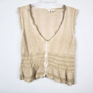 Moth Anthropologie scrunched knit top